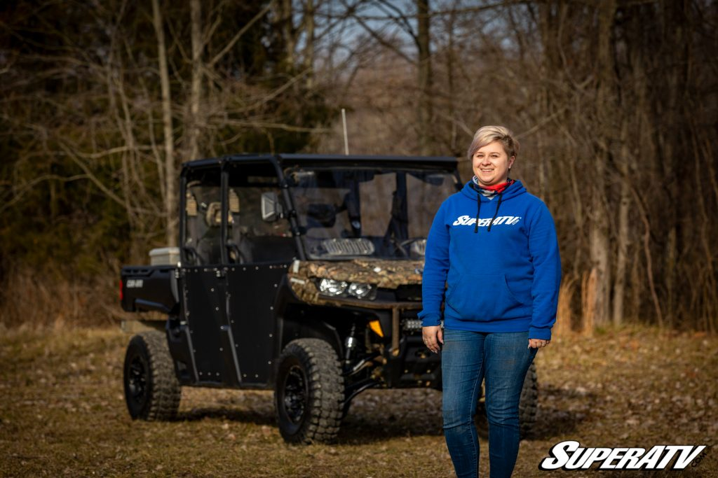 SuperATV employee Caitlynn Beck with her 2019 Can-Am Defender