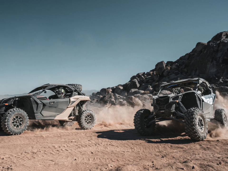 two new 2022 Can-Am Maverick X3 side-by-sides with 200 HP