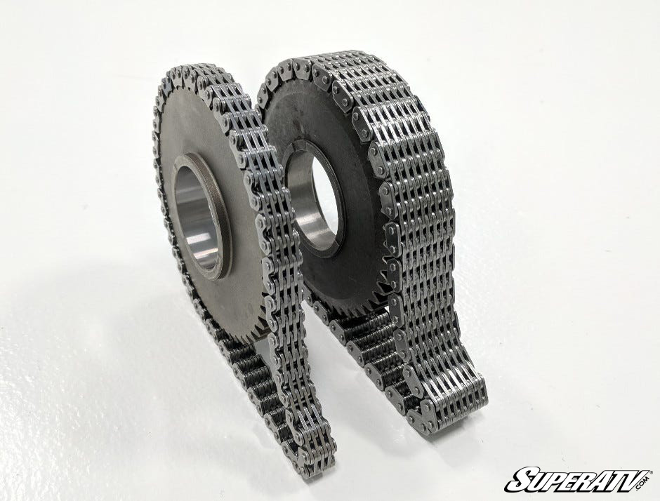 It's easy to see how much better SuperATV's heavy-duty reverse chain is.