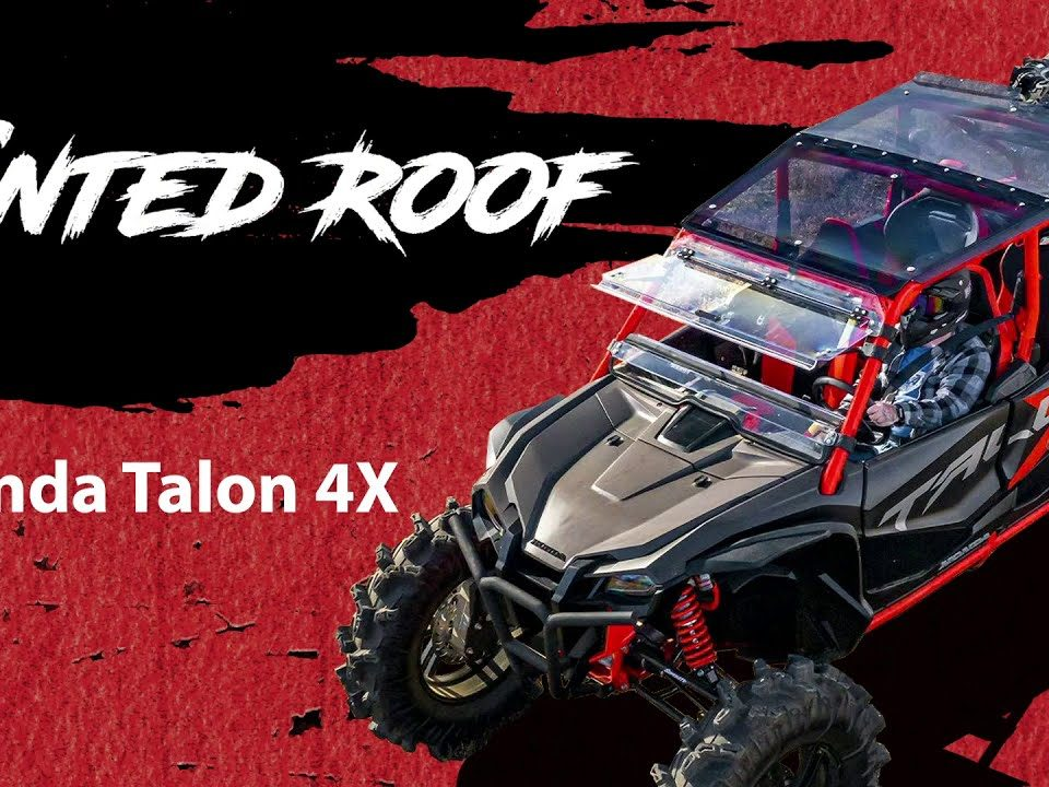 A SuperATV tinted roof installed on a honda talon 1000X