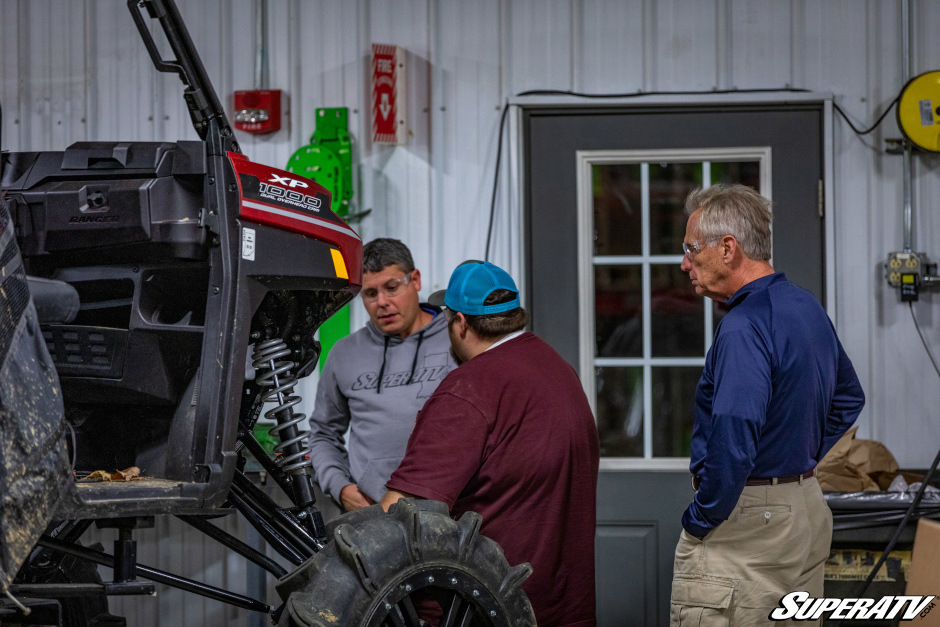 Harold, Damon, and Jordan talking about a new Ranger XP 1000 part