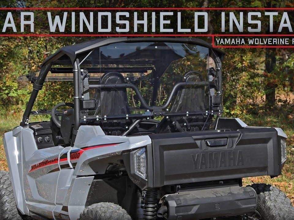 SuperATV Rear Windshield on Yamaha RMAX 1000