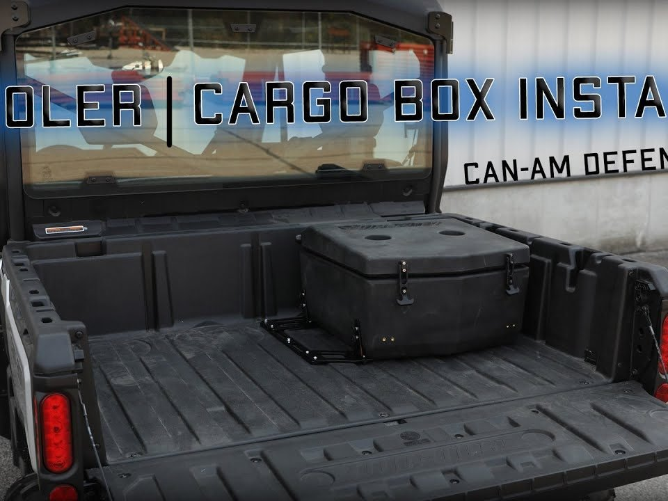 SuperATV's Cargo Box installed on a Can-Am Defender