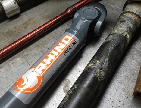 Rhino Driveline prop shaft close-up