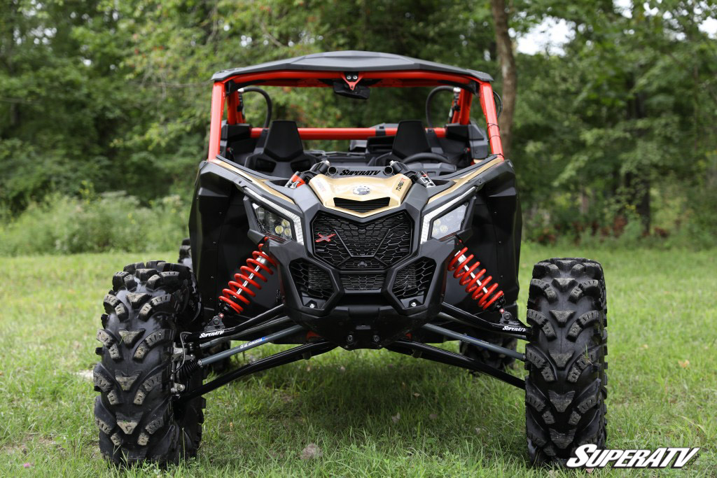 A front profile photo of a UTV