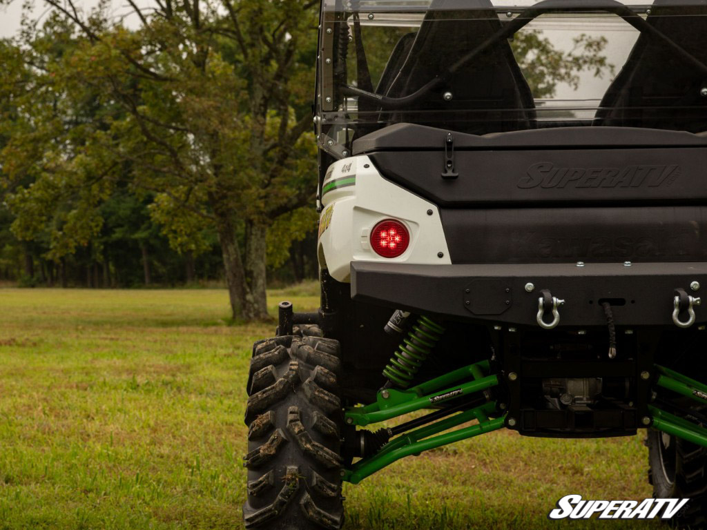 This photo of UTV's rear view is a good reminder to get your side-by-side registered and plated if you're planning on taking it to the streets