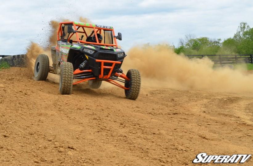 UTV driving on dirt