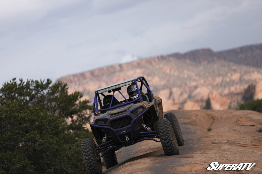 Offset A-arms pair nicely with portals and big tires for a monster-style machine without a monster lift.