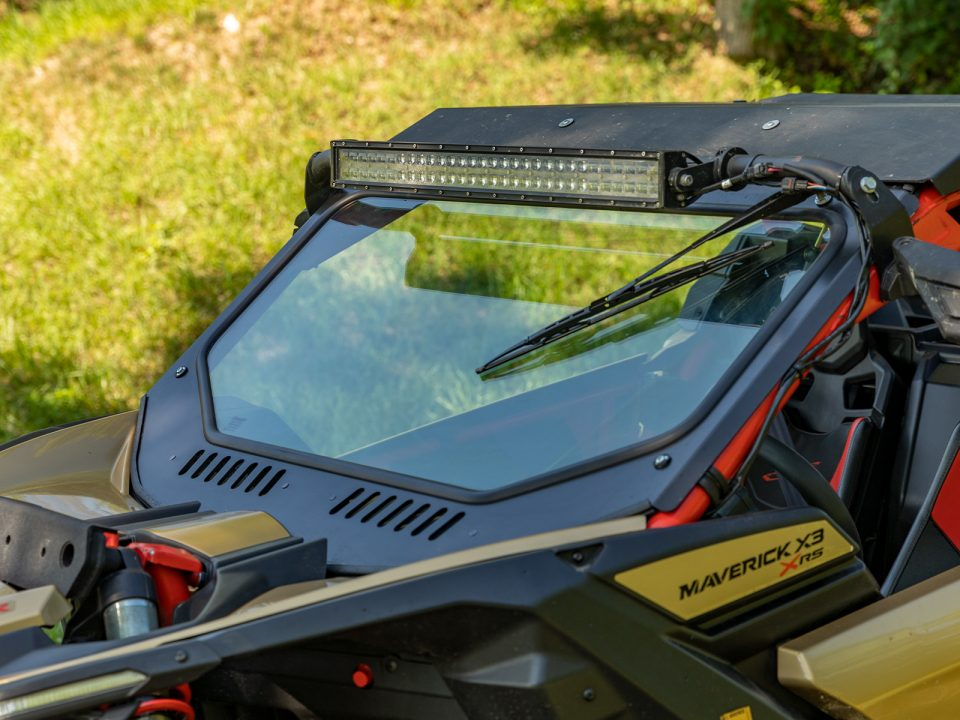 SuperATV glass windshield for Can-Am Maverick X3