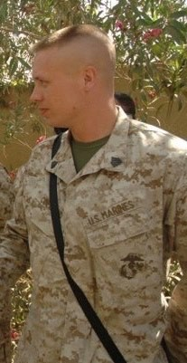 A photo of Craig taken during his time serving the United States Marine Corps