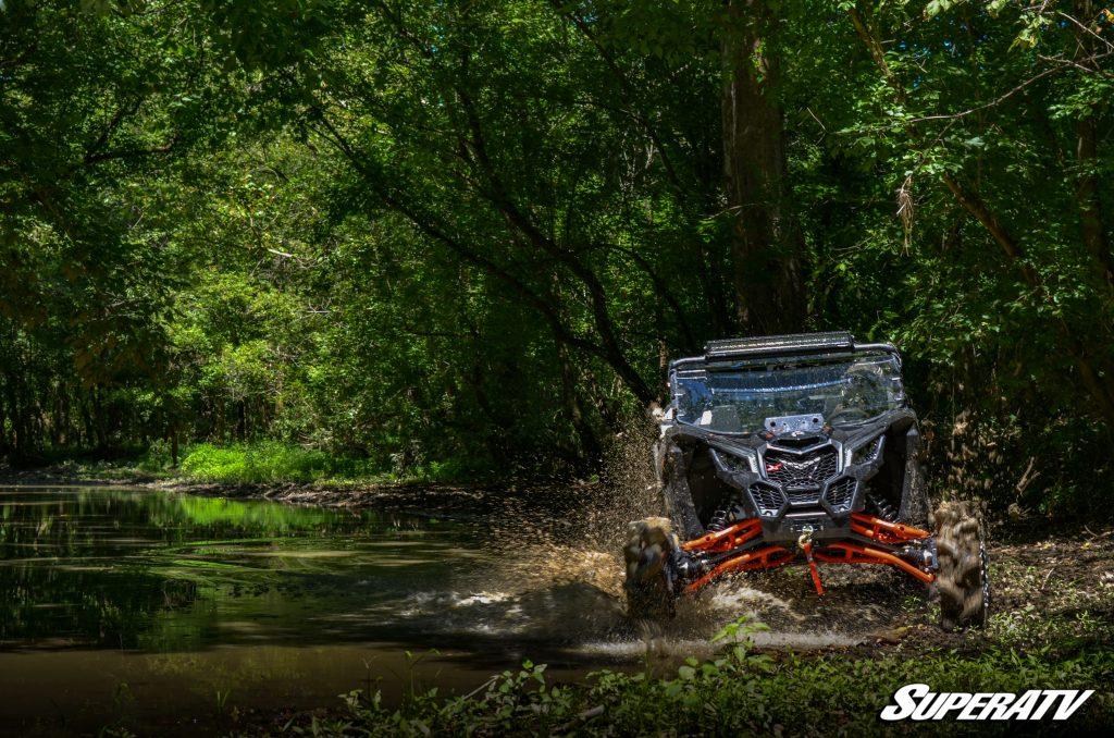 UTV in creek