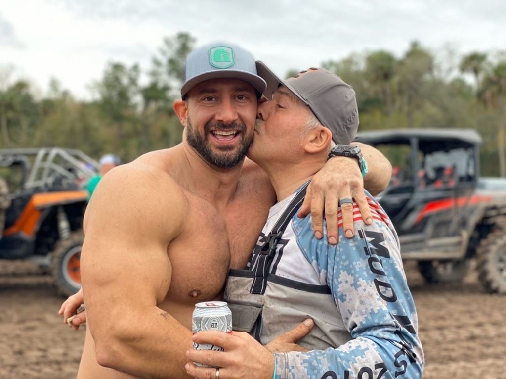 Nick poses with his father at Hog Waller Mud Bog in Florida. His dad is a huge motivating factor when it comes to Nick's drive to pursue bigger and more exciting builds.