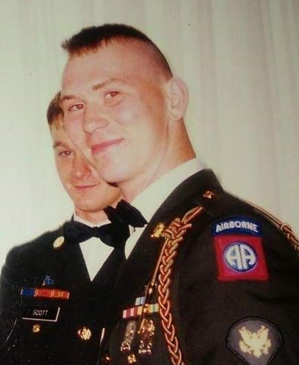 This photo shows Doug Scott during his time serving in the United States Army.