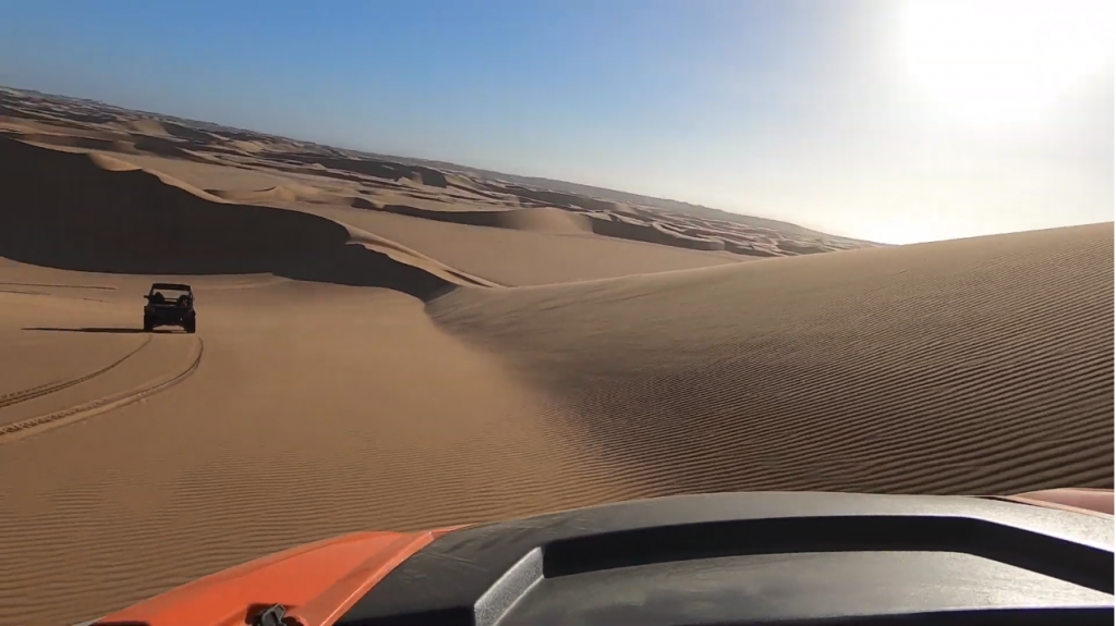 Riding the dune sea