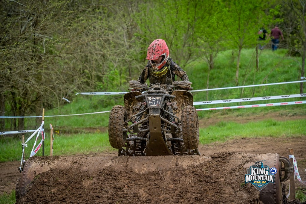Kristen races at the 2019 IXCR King of the Mountain Event in Canaan, Indiana.