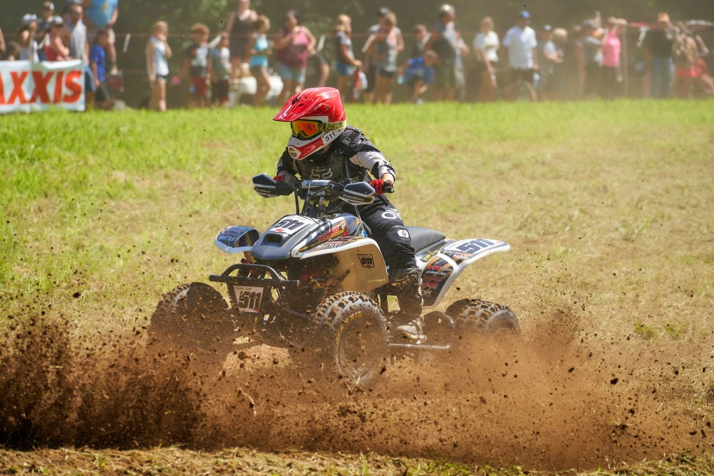 Kristen races at the 2019 IXCR Oliver Brothers Event in Russellville, Indiana.
