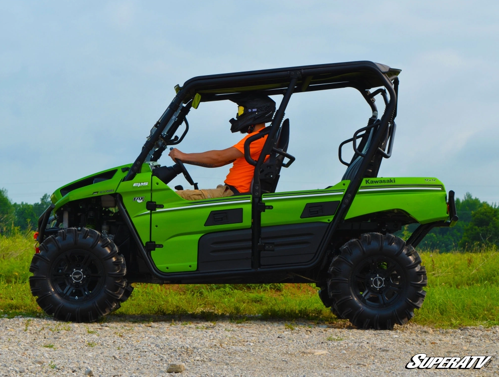 A Kawasaki Teryx with forward offset A-arms from SuperATV