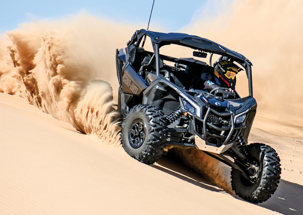 The 2019 Can-Am Maverick X3 X RS Turbo R features a more powerful EPS system and ultra-smooth handling.