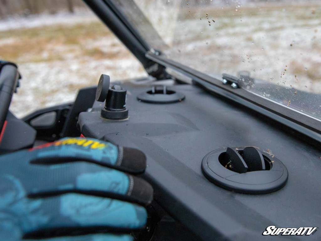Cab heaters with defrost vents keep you warm and keep your windshield clear of snow.