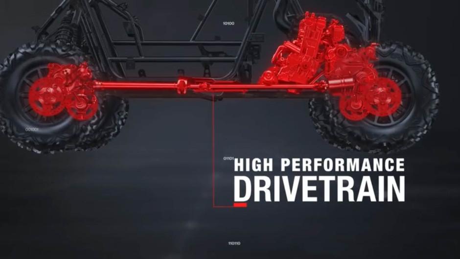 The RS1's drivetrain looks like a RZR Turbo drivetrain