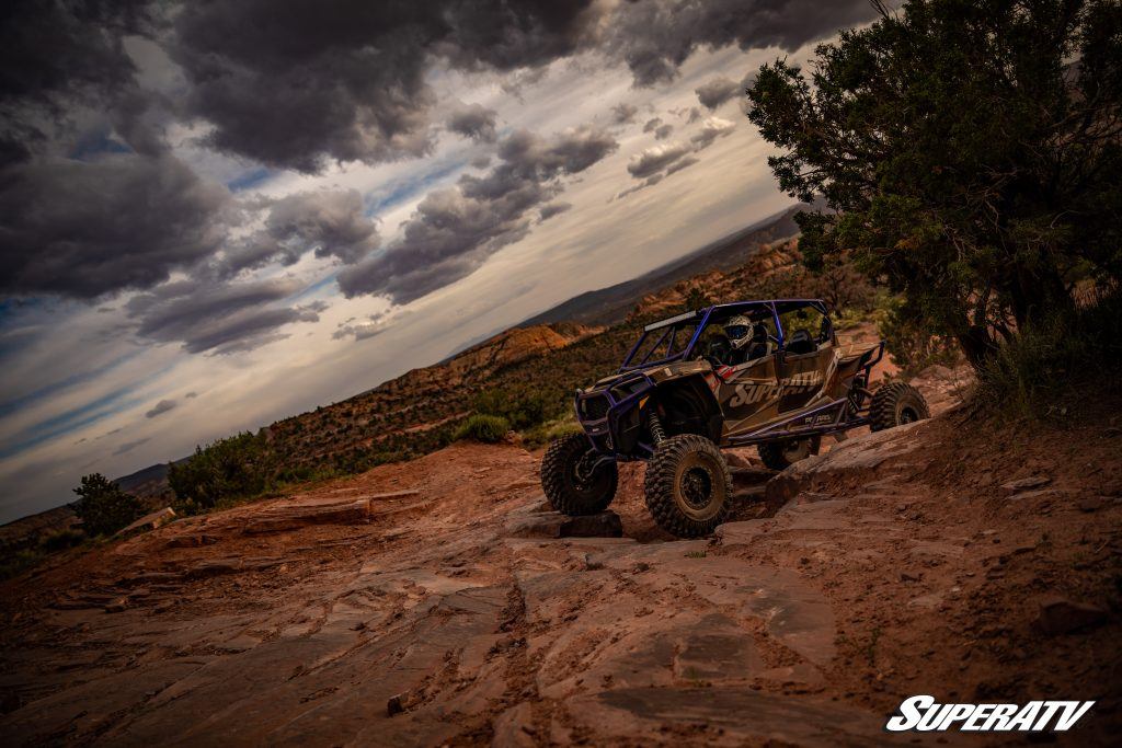 A Polaris RZR 1000 getting ride time to reset the check engine light.