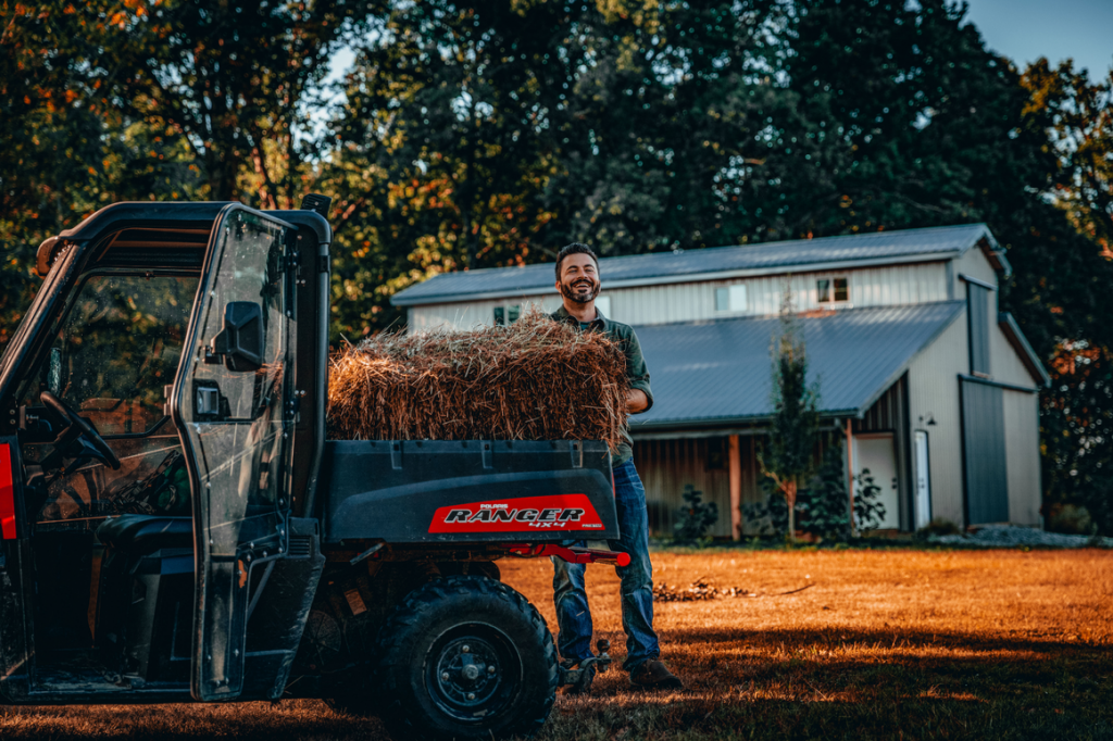 """The lovely Matt getting work down around his property more easily thanks to the 2"""" lift kit on his ranger."""