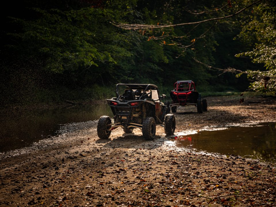 side-by-sides in mud