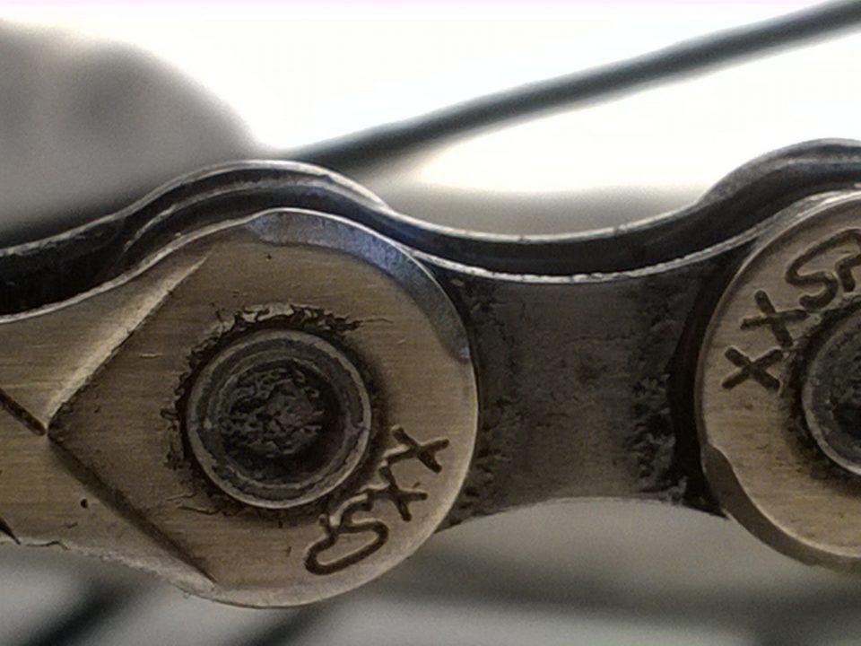 A Closeup of an ATV chain