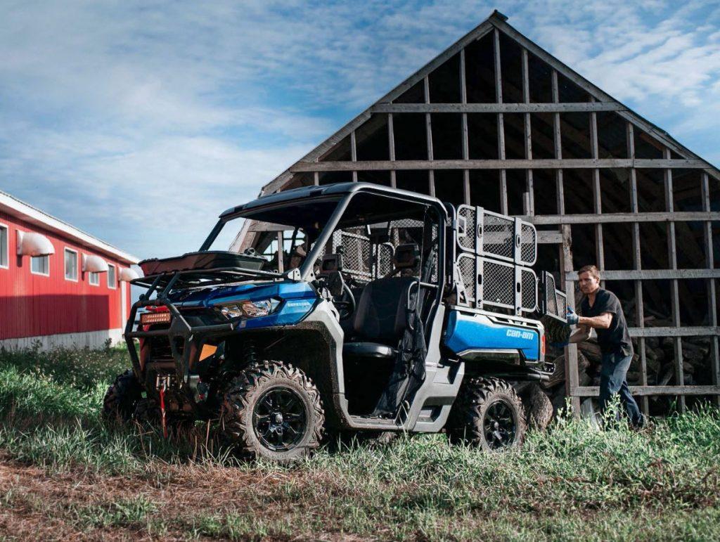 A Can-Am Defender XT on the farm