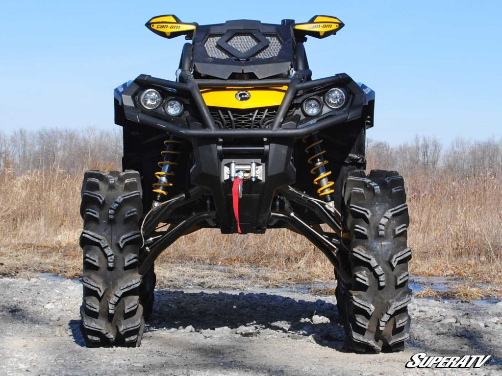 """A Can-Am Outlander with a massive 6"""" lift kit."""