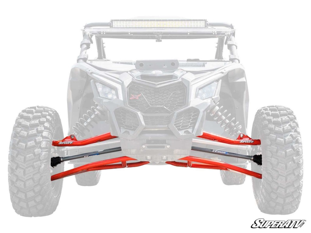 Long travel kits give you extra width with a complete suspension overhaul.