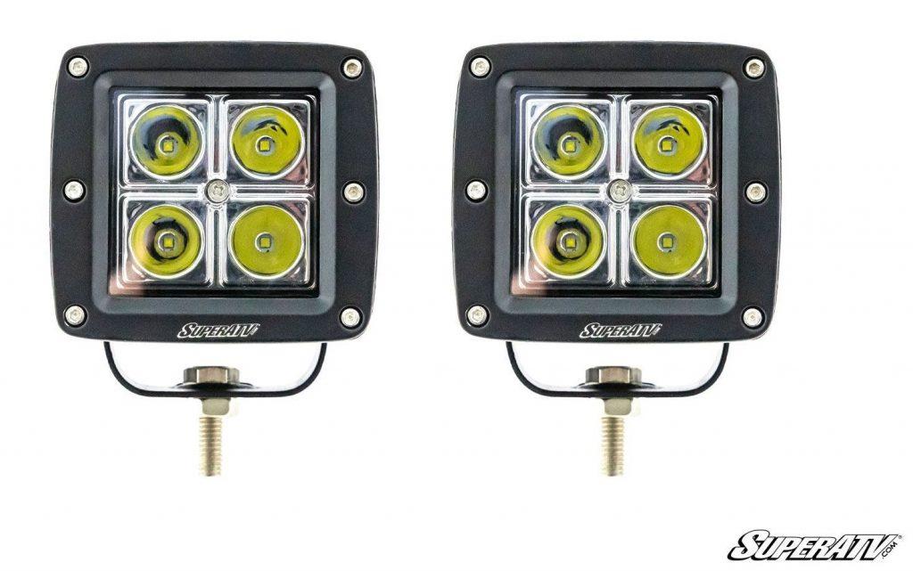 A pair of SuperATV's cube lights