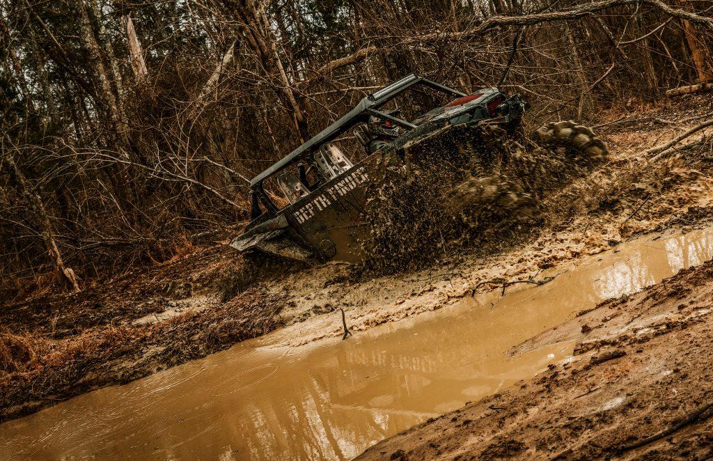 Depth finder in mud.
