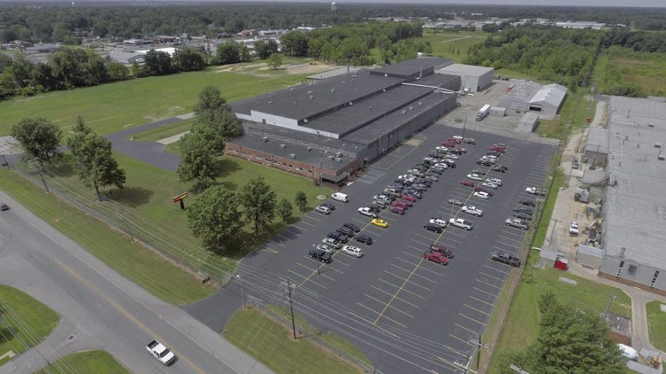 This aerial shot shows the SuperATV facilities in Madison, Indiana.