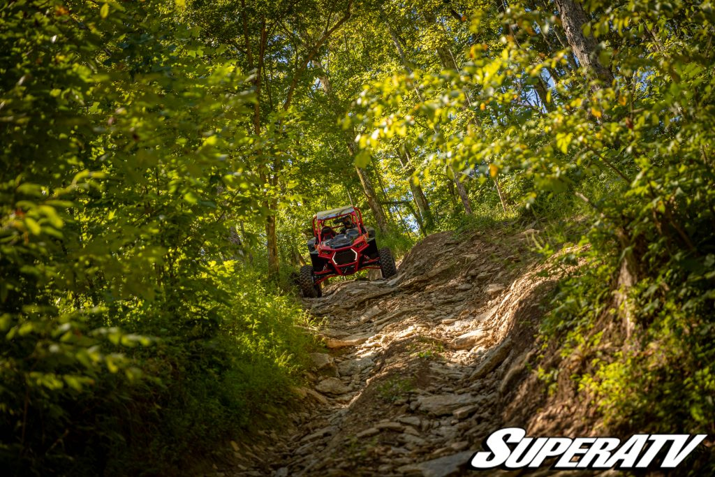 A UTV on a trail at Dirty Turtle Off-Road Park