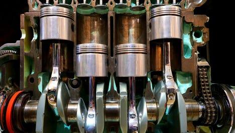 Closeup of UTV Engine