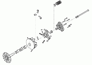 A Diagram Exploded View of a Polaris CTV Clutch