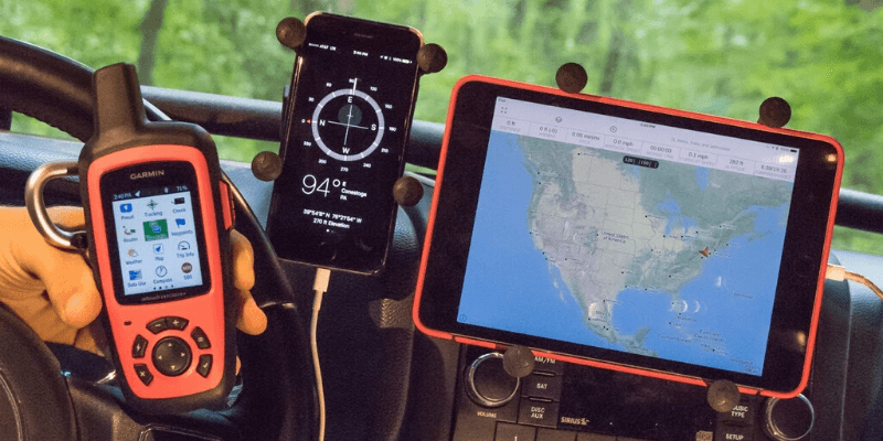 Different types of navigation for off-roading