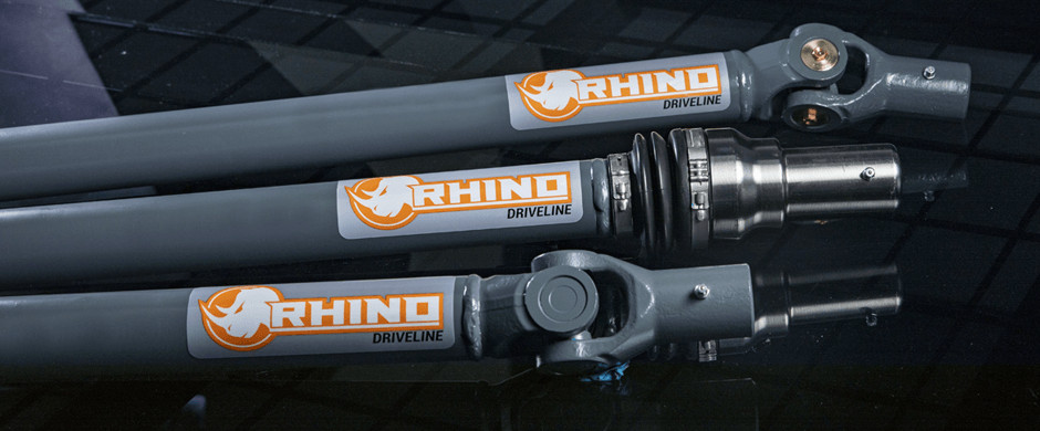 SuperATV's Rhino Driveline Prop Shafts show Bounty Series, U-Series, and C-Series joints.