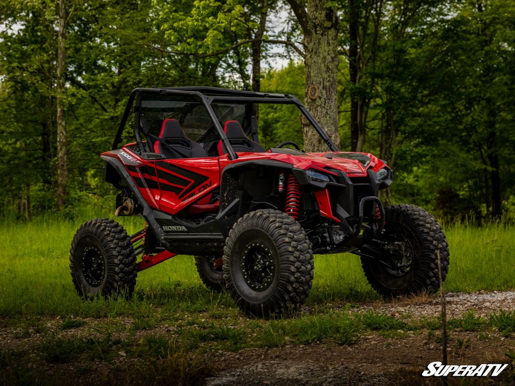 A Honda Talon 1000R with upgraded tires and a lift kit.