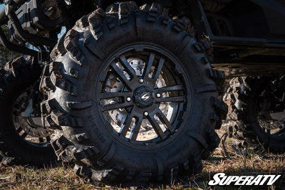SuperATV's Intimidator Tires, pictured here, are perfect for tackling mud.