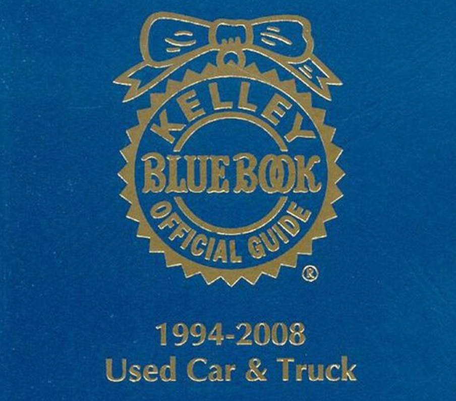 The iconic cover of the Kelley Blue Book Official Guide