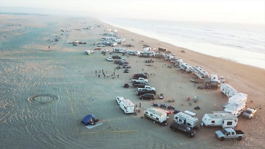 ATVs, UTVs, and RVs on the beach at Oceano Dunes SVRA in California