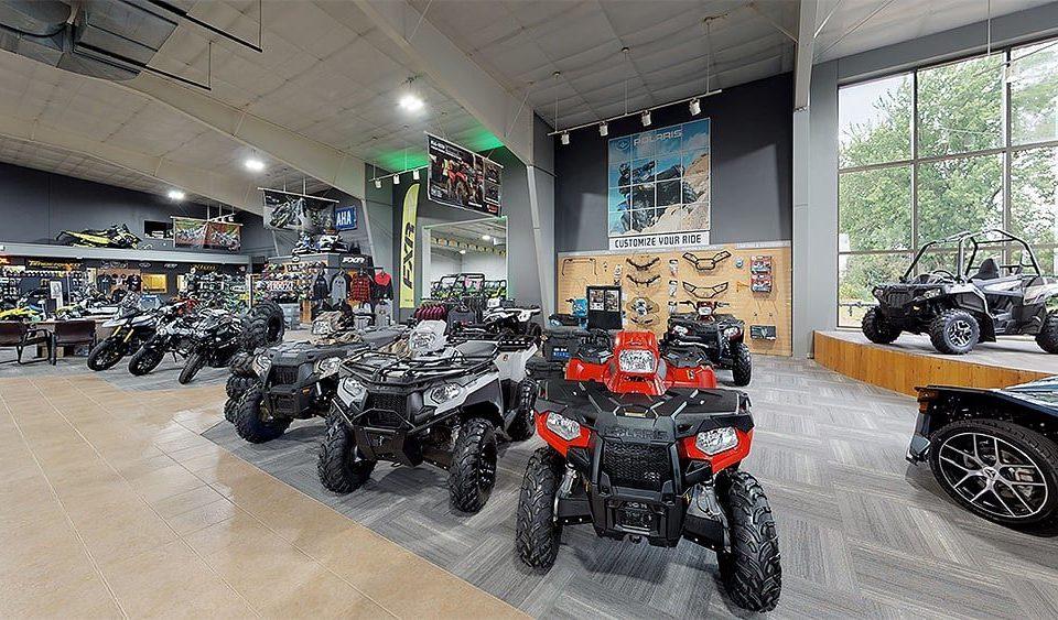 Sales floor of off-road vehicle dealership
