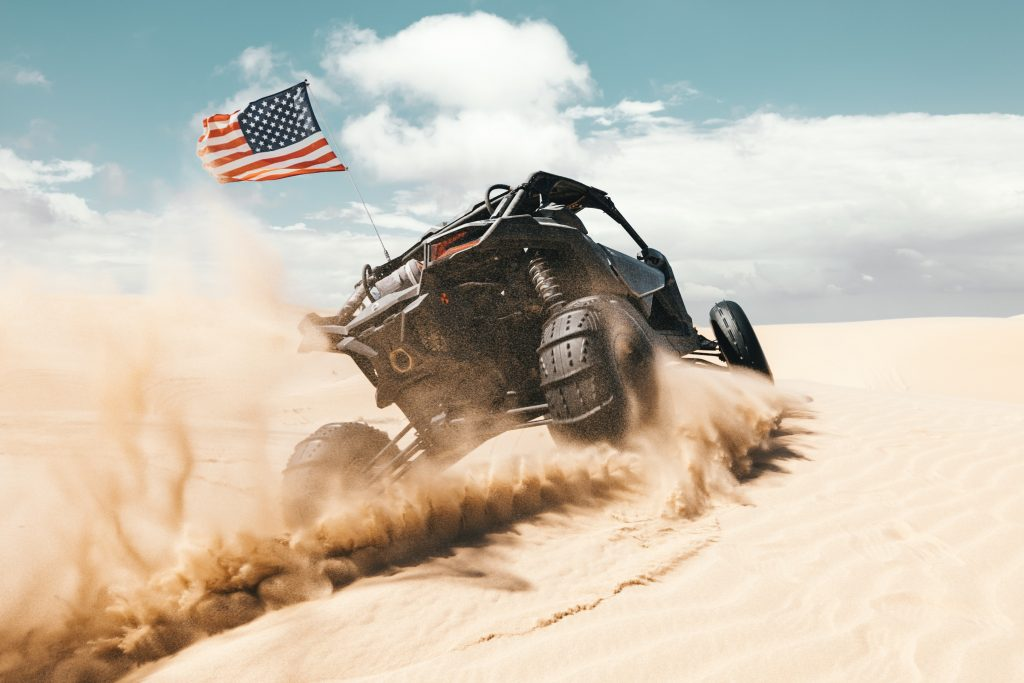 Sand tires on a Maverick can't be beat in dune performance.