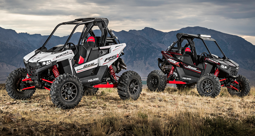 Polaris' new single seat RZR—the RS1 in a black and white color packages.