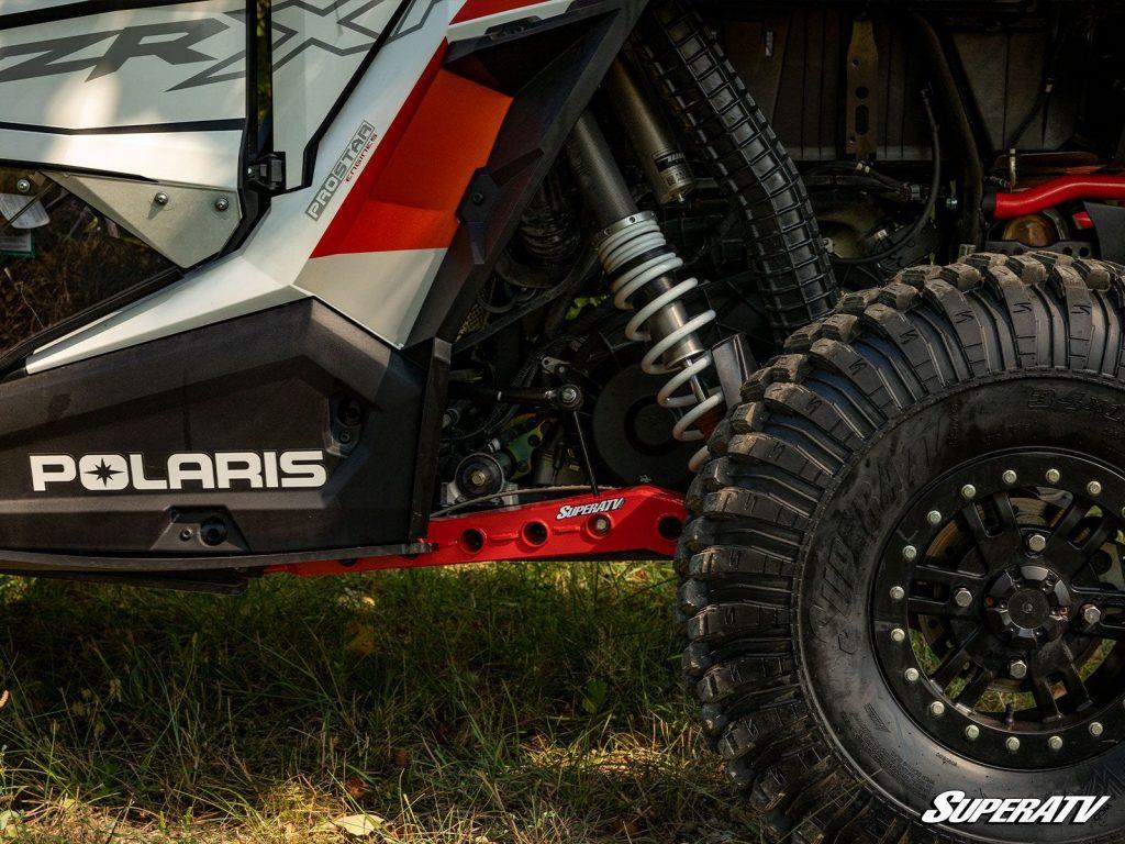 SuperATV High-Clearance Trailing Arms on a Polaris RZR XP Turbo