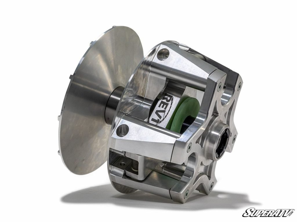 A Rev1 Polaris Clutch from SuperATV. It's made with all billet aluminum for increased strength