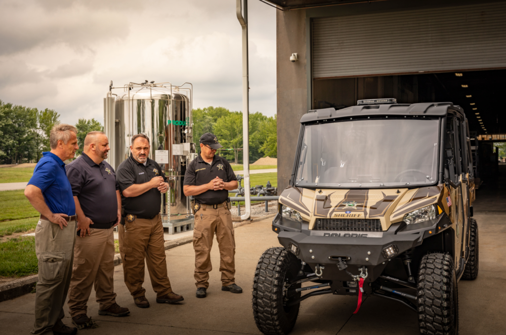 A Ranger that's been custom built by SuperATV for the Jennings County Police Department.