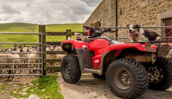 An ATV ready for working on the farm.